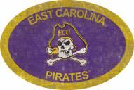 "East Carolina Pirates 46"" Team Color Oval Sign"
