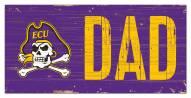 """East Carolina Pirates 6"""" x 12"""" Dad Sign"""