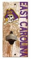 "East Carolina Pirates 6"" x 12"" Distressed Bottle Opener"