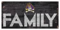 "East Carolina Pirates 6"" x 12"" Family Sign"