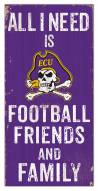 "East Carolina Pirates 6"" x 12"" Friends & Family Sign"
