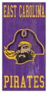 "East Carolina Pirates 6"" x 12"" Heritage Logo Sign"