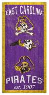 "East Carolina Pirates 6"" x 12"" Heritage Sign"