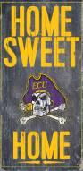 "East Carolina Pirates 6"" x 12"" Home Sweet Home Sign"