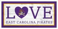 "East Carolina Pirates 6"" x 12"" Love Sign"