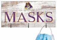 """East Carolina Pirates 6"""" x 12"""" Mask Holder"""