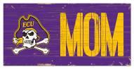 "East Carolina Pirates 6"" x 12"" Mom Sign"