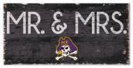 "East Carolina Pirates 6"" x 12"" Mr. & Mrs. Sign"