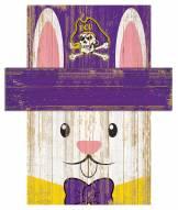 "East Carolina Pirates 6"" x 5"" Easter Bunny Head"