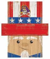 "East Carolina Pirates 6"" x 5"" Patriotic Head"