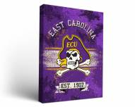 East Carolina Pirates Banner Canvas Wall Art