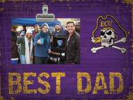 East Carolina Pirates Best Dad Clip Frame
