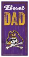 East Carolina Pirates Best Dad Sign