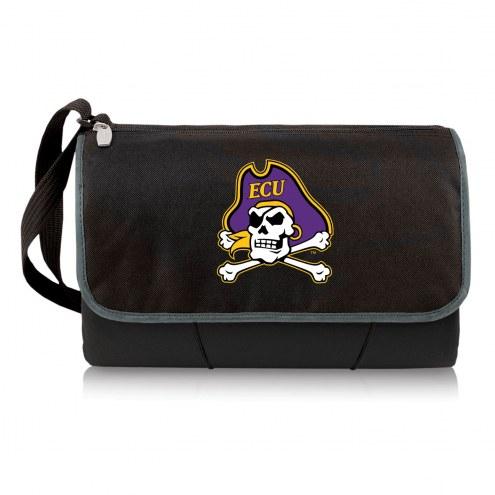 East Carolina Pirates Black Blanket Tote