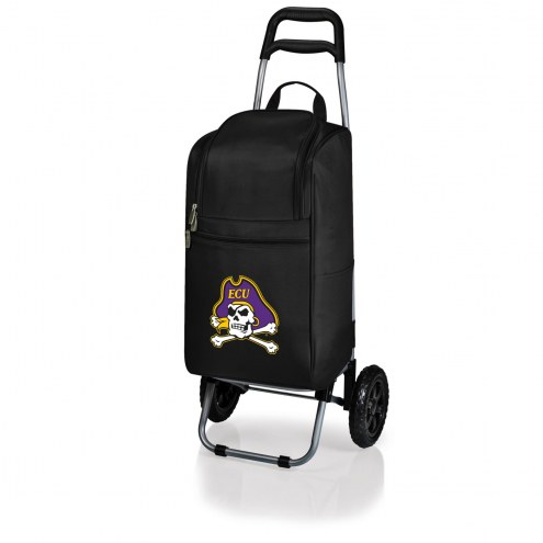 East Carolina Pirates Black Cart Cooler
