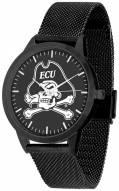 East Carolina Pirates Black Dial Mesh Statement Watch