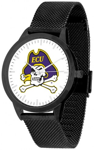 East Carolina Pirates Black Mesh Statement Watch