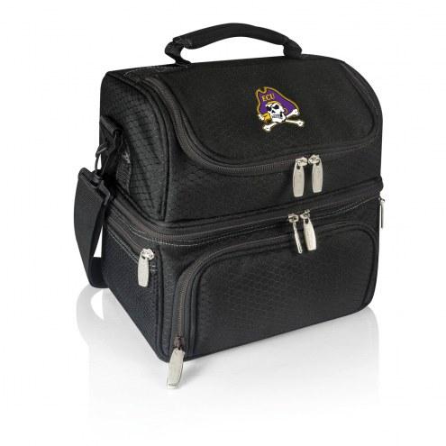 East Carolina Pirates Black Pranzo Insulated Lunch Box