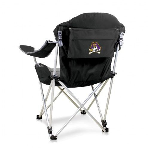 East Carolina Pirates Black Reclining Camp Chair