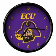 East Carolina Pirates Black Rim Clock