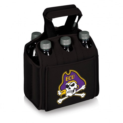 East Carolina Pirates Black Six Pack Cooler Tote
