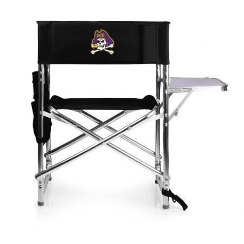 East Carolina Pirates Black Sports Folding Chair