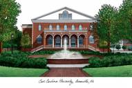 East Carolina Pirates Campus Images Lithograph