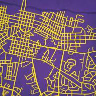 East Carolina Pirates Campus Map Print