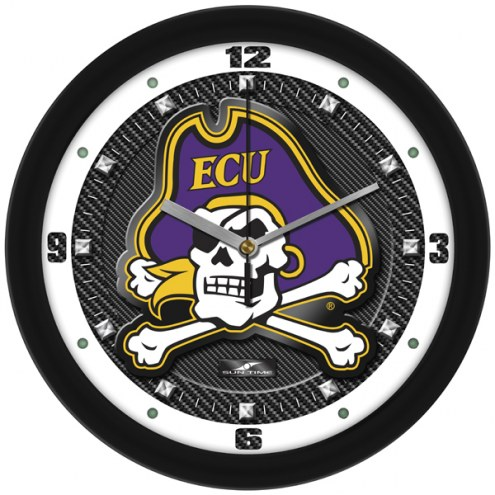 East Carolina Pirates Carbon Fiber Wall Clock