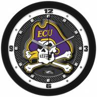 East Carolina Pirates Carbon Fiber Wall Clock