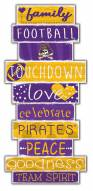 East Carolina Pirates Celebrations Stack Sign