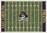 East Carolina Pirates College Home Field Area Rug