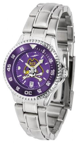 East Carolina Pirates Competitor Steel AnoChrome Women's Watch - Color Bezel