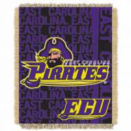 East Carolina Pirates Double Play Woven Throw Blanket