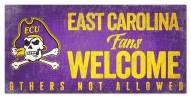 East Carolina Pirates Fans Welcome Sign