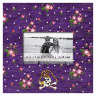 """East Carolina Pirates Floral 10"""" x 10"""" Picture Frame"""