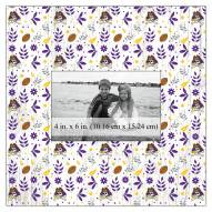 """East Carolina Pirates Floral Pattern 10"""" x 10"""" Picture Frame"""