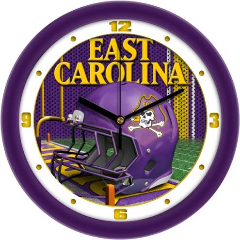 East Carolina Pirates Football Helmet Wall Clock
