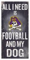 East Carolina Pirates Football & My Dog Sign
