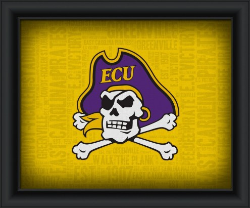 East Carolina Pirates Framed Word Cloud
