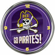 East Carolina Pirates Go Team Chrome Clock
