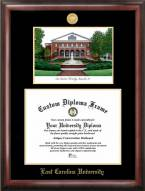 East Carolina Pirates Gold Embossed Diploma Frame with Lithograph