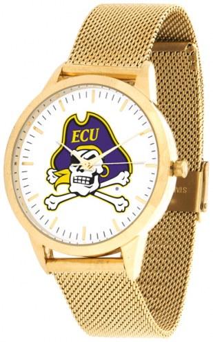 East Carolina Pirates Gold Mesh Statement Watch