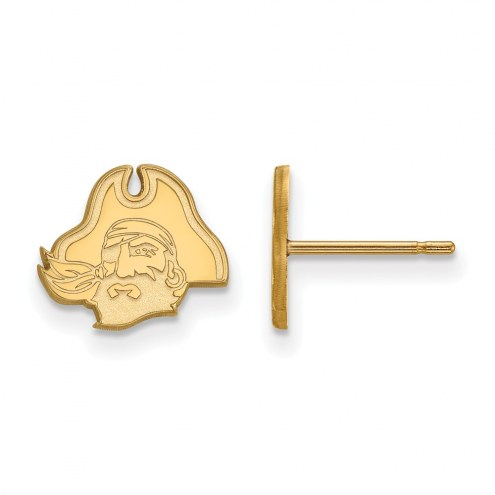 East Carolina Pirates Sterling Silver Gold Plated Extra Small Post Earrings