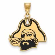 East Carolina Pirates Sterling Silver Gold Plated Large Enameled Pendant