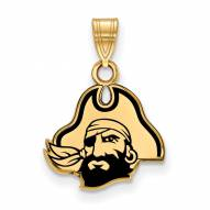 East Carolina Pirates Sterling Silver Gold Plated Small Enameled Pendant
