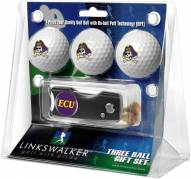 East Carolina Pirates Golf Ball Gift Pack with Spring Action Divot Tool