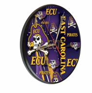 East Carolina Pirates Digitally Printed Wood Clock