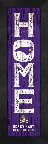 East Carolina Pirates Home Away From Home Personalized Wall Decor