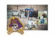 East Carolina Pirates I Love My Family Clip Frame